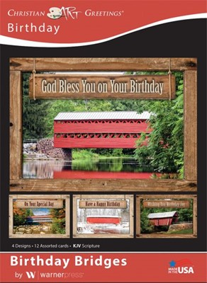 Boxed Card - Birthday Bridges (pack of 12) (Cards)