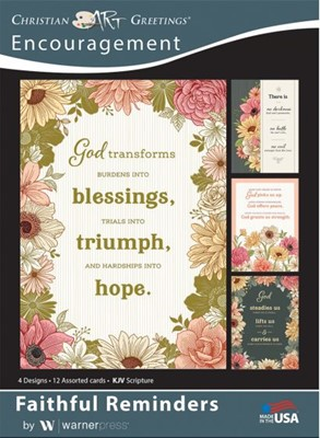Boxed Card Encouragement - Faithful Remiders (pack of 12) (Cards)