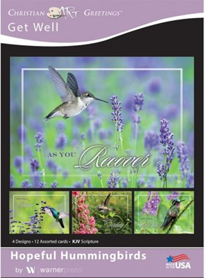 Boxed Card - Hopeful Hummingbirds (pack of 12) (Cards)