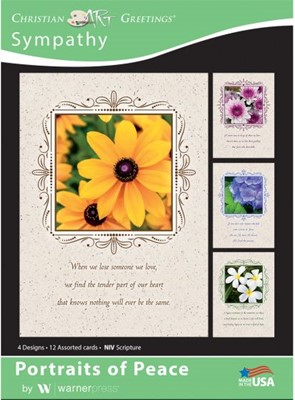 Boxed Card Sympathy - Portraits of Peace (pack of 12) (Cards)