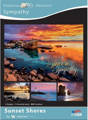 Boxed Card Sympathy - Sunset Shores (pack of 12) (Cards)