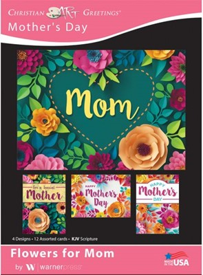 Boxed Card - Flowers for Mom (pack of 12) (Cards)