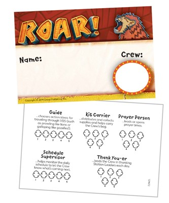 Roar Name Badges (Pack of 10) (General Merchandise)