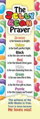 Jelly Bean Prayer Bookmark (Bookmark)