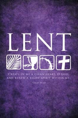 Psalm 51:10 Lent Bulletin (Pack of 100) (Bulletin)