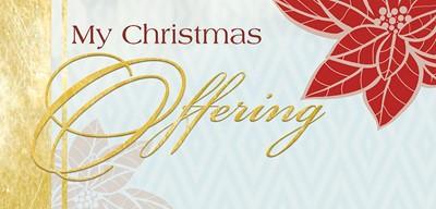 Christmas Poinsettia & Music Christmas Offering Envelope (Pk (Bulletin)