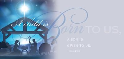 Born Nativity Christmas Offering Envelope (Pkg of 50) (Bulletin)