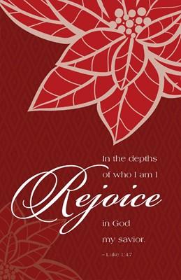Rejoice Poinsettia Christmas Bulletin (Pkg of 50) (Bulletin)