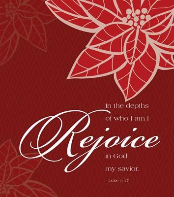 Rejoice Poinsettia Christmas Bulletin, Large (Pkg of 50) (Bulletin)