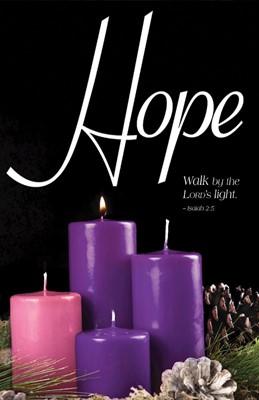 Hope Advent Candle Sunday 1 Bulletin (Pkg of 50) (Bulletin)