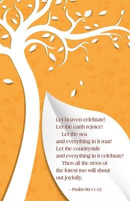 Let Heaven Celebrate Fall Bulletin (Pkg of 50) (Bulletin)