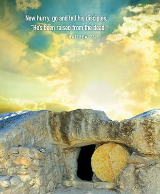 Now Hurry Sunrise Easter Bulletin, Large (Pkg of 50) (Bulletin)