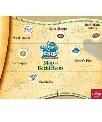 Miracle of Jesus Map of Bethlehem (pack of 10) (General Merchandise)
