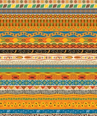 African Pattern Plastic Backdrop (General Merchandise)