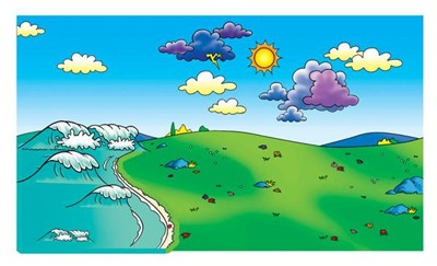 Beginner's Bible: Meadow Flannelboard with Ocean Overlay (General Merchandise)