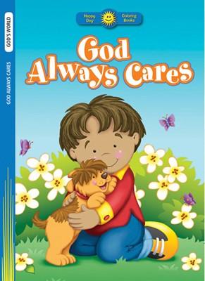 God Always Cares Colouring Book (Paperback)