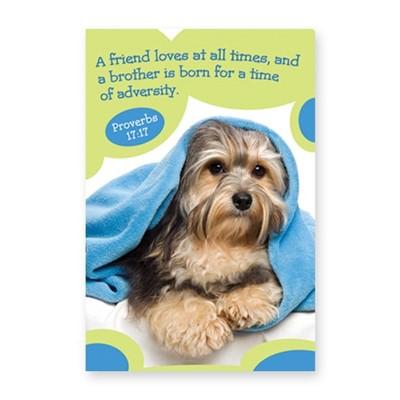 Memo Pad Cute Puppy Proverbs 17:17 (Notebook / Blank Book)