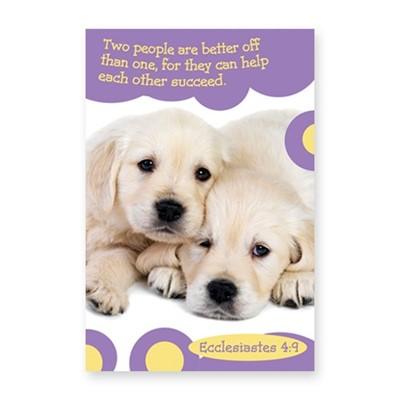 Memo Pad Cute Puppy Ecclesiastes 4:9 (Notebook / Blank Book)
