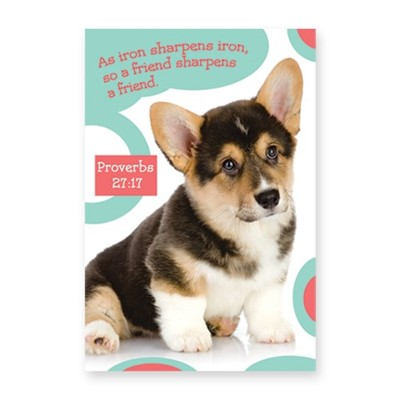 Memo Pad Cute Puppy Proverbs 27:17 (Notebook / Blank Book)