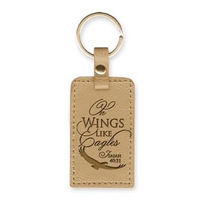 Leather Lux Keyring On Wings Like Eagles (Keyring)