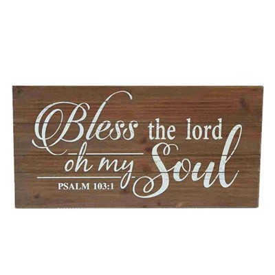 Wooden Wall Plaque Bless the Lord (General Merchandise)