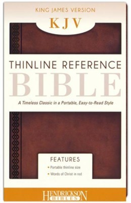KJV Thinline Reference Bible, Brown (Flexisoft)