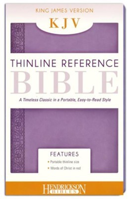 KJV Thinline Reference Bible, Lilac (Flexisoft)