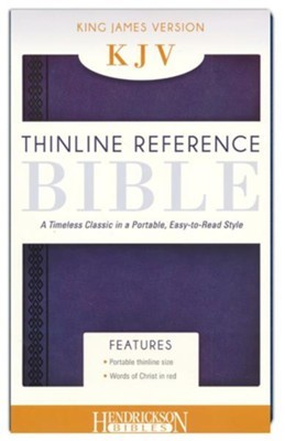 KJV Thinline Reference Bible, Midnight Blue (Flexisoft)