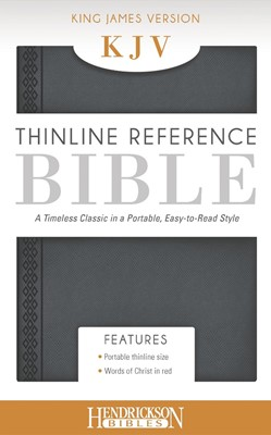 KJV Thinline Reference Bible, Grey (Flexisoft)