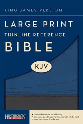 KJV Large Print Thinline Reference Bible, Slate/Blue (Flexisoft)