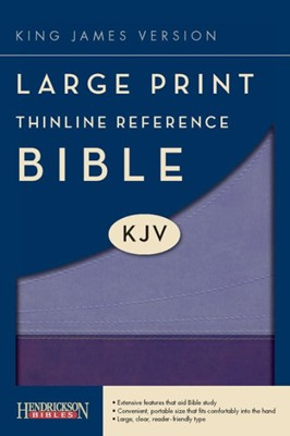 KJV Large Print Thinline Reference Bible, Violet/Lilac (Flexisoft)