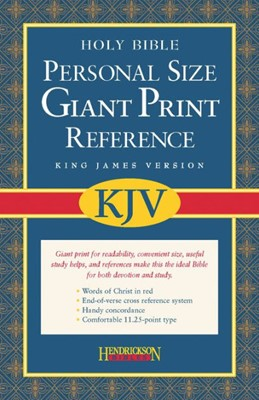KJV Giant Print Personal Size Reference Bible, Black (Imitation Leather)