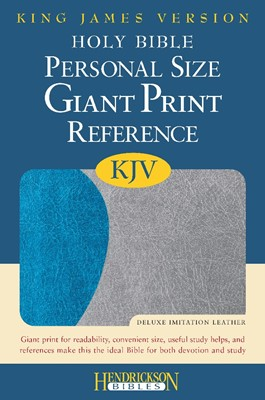 KJV Giant Print Personal Size Reference Bible, Blue/Gray (Flexisoft)