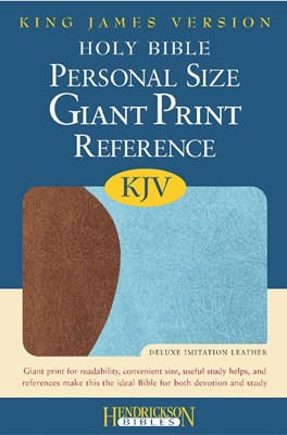KJV Giant Print Personal Size Reference Bible, Blue/Brown (Flexisoft)
