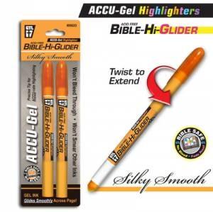 Bible Hi-Glider Orange 2 pack (Pen)