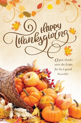 Happy Thanksgiving Bulletin (pack of 100) (Bulletin)