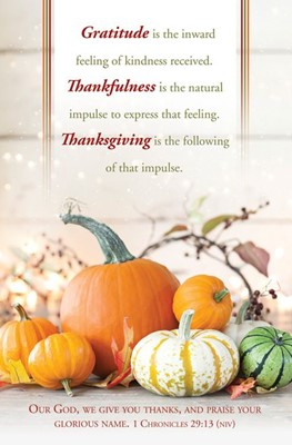 Thanksgiving Bulletin (pack of 100) (Bulletin)