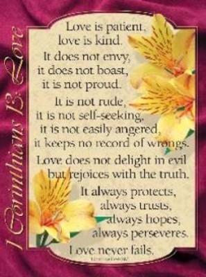 1 Corinthians - Love 20x26 (Poster)