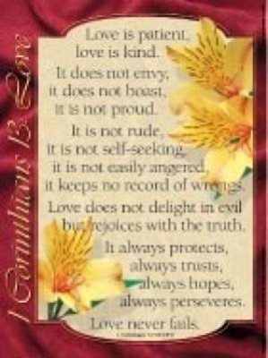 1 Corinthians 13 - Love 20x26 (Poster)
