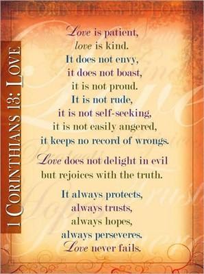 1 Corinthians 13 - 20x26 (Poster)
