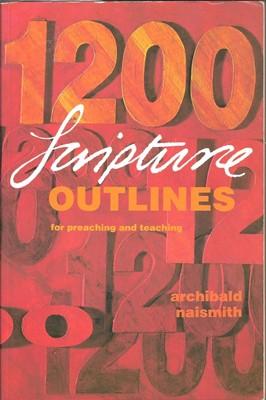 1200 Scripture Outlines (Paperback)