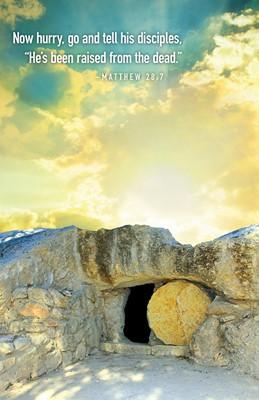 Now Hurry Sunrise Easter Bulletin (Pkg of 50) (Bulletin)