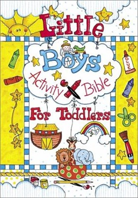Little Boys Activity Bible for Toddlers (Hard Cover)