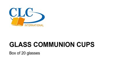 CLC Glass Communion Cups - Pack of 20 (General Merchandise)
