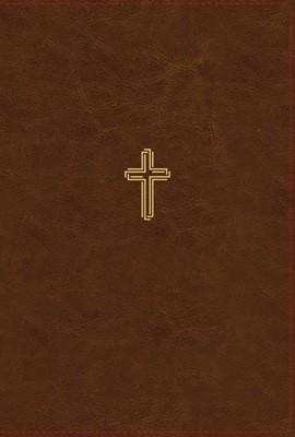 NASB Thinline Bible, Large Print, Borwn, Red Letter Edition (Imitation Leather)