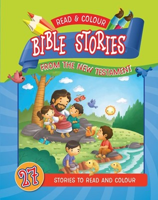 Read and Colour Bible Stories from the New Testament (Paperback)