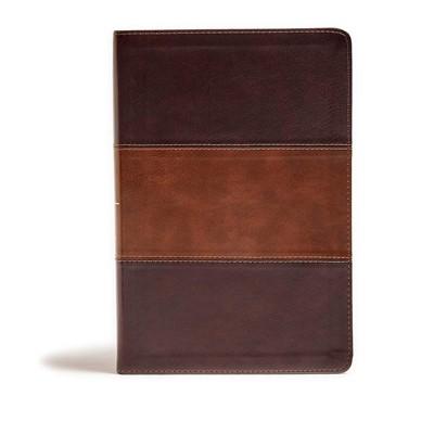 KJV Giant Print Reference Bible, Mahogany, Indexed (Imitation Leather)