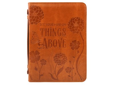 Things Above Bible Cover Imitation Leather, Large