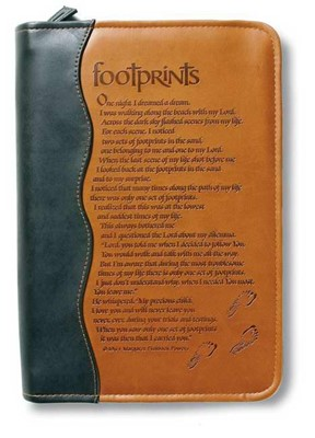 Bible Cover Footprints (Bible Case)