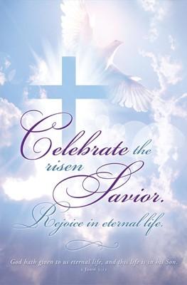 Celebrate the Risen Savior Easter Bulletin (pack of 100) (Bulletin)